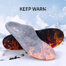 Flat Feet Orthopedic Insoles Arch Support Orthotics Winter Warm Heated Wool Shoe Inserts For Plantar Fasciitis Relieve Foot Pain