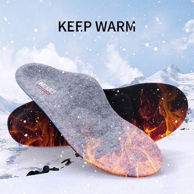 Semelles orthopédiques pour les pieds plats, soutien de la voûte plantaire, Inserts de chaussures chauffées en laine pour soulager les douleurs du pied