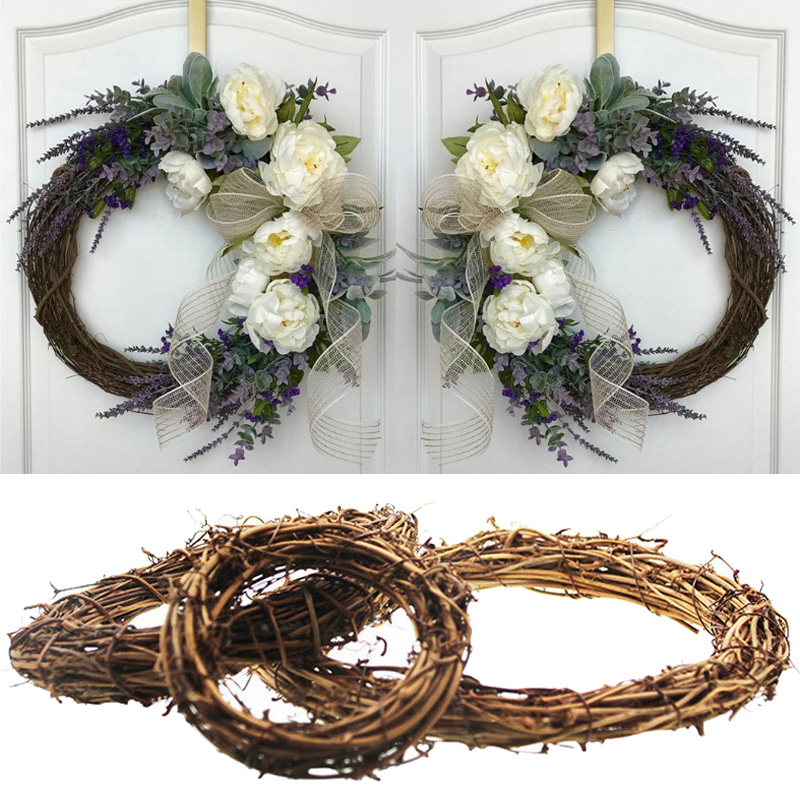 MEIDDING Wedding Decoration For Weddings 10-30cm Rattan Wreath DIY Wedding Wreaths Home Door Decor Ornaments Garland Easter