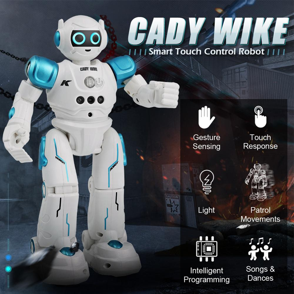 New RC Robot CADY WIKE Gesture Sensing Touch Intelligent Programmable Walking Dancing Smart Robot Toy For Children Toys