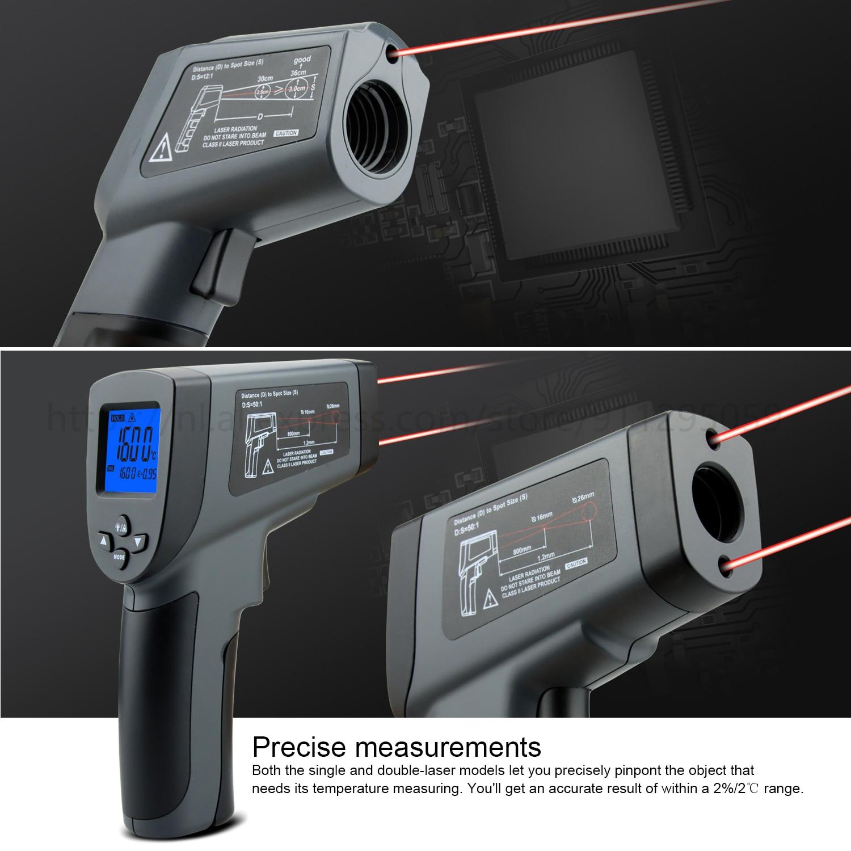 Kaemeasu Digitale Infrarood Thermometer -50 ~ 1600 Meetbereik, Non-contact, Veiligheid, Koken, industriële Elektronische Thermometer Pistool 4