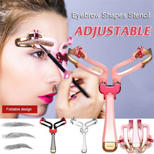 1PCS Adjustable Eyebrow Stencil Makeup Shaping Eye Brow Makeup Model Template Eyebrows Card Styling Tool Women Eyes Maquillaje