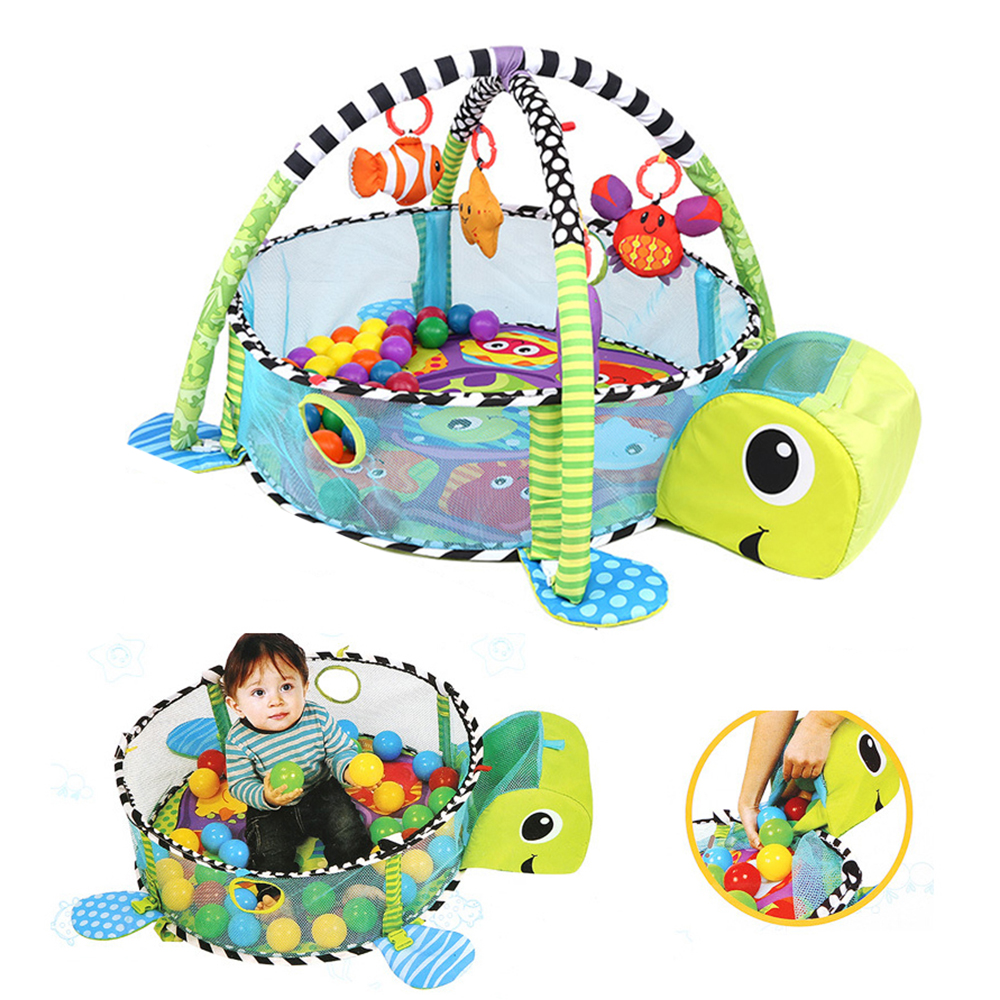 Baby Activity Gym Mat Baby Gyms Playmats Cartoon Turtle Multi-function Children Non Olet Gym Mat Interesting Crawling Blanket