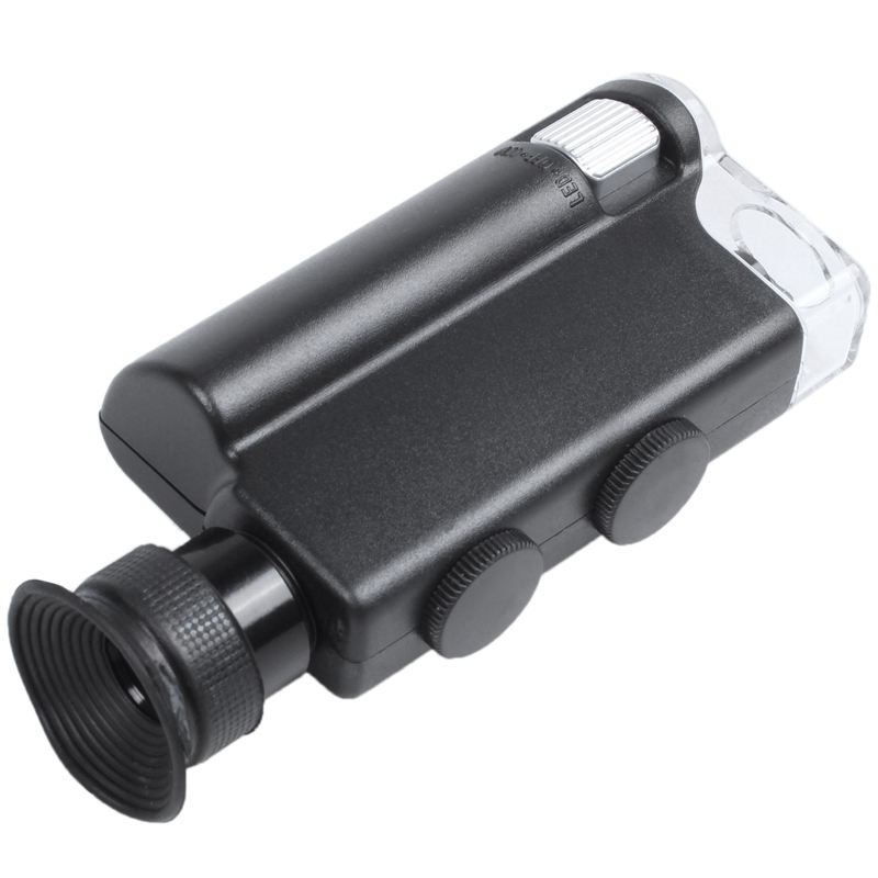 200X-240X LED UV Light Pocket Microscope,Pocket-Sized Microscope,Find The Universe Of Small Stuff All Around Us