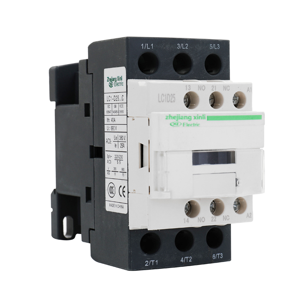 Strong Conductivity AC Connector Electric Poles Coil AC Modular Contactor 9A 12A 18A <font><b>25A</b></font> 32A 38A For AC 50Hz 60Hz Voltage <font><b>220V</b></font> image