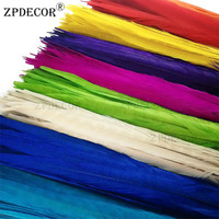 ZPDECOR 45 50 cm dyed Male Pheasant Feathers For Crafts DIY Wedding Decorations Plumes