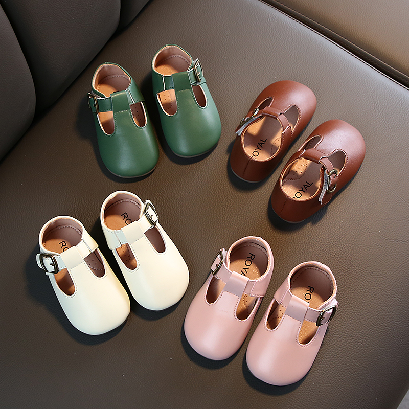 Toddler Baby Casual  Princess Shoes Soft Infant Girls Kids Leather Shoes Flat Solid Color Cute Sweet Moccasins  SW007