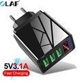 OLAF 3,0 A зарядное устройство USB светодиодный цифровой дисплей для Samsung S10 Plus iPhone Xiaomi зарядное устройство быстрое настенное зарядное устройство...