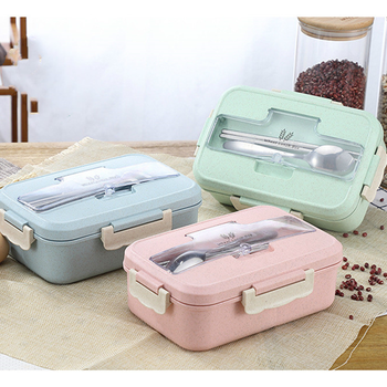 Leakproof Lunch Box Separate Compartments Children School Bento Food Container Microwave Dinnerware for Kids