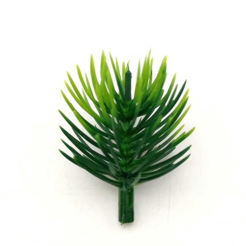 100 Uds ramas de pino artificiales plantas artificiales ramas flores artificiales para decoraciones para árboles de Navidad accesorios DIY