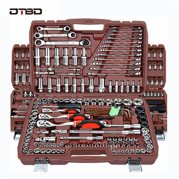цена на Socket Set Universal Car Repair Tool Ratchet Set Torque Wrench Combination Bit A Set Of Keys Multifunction DIY toos