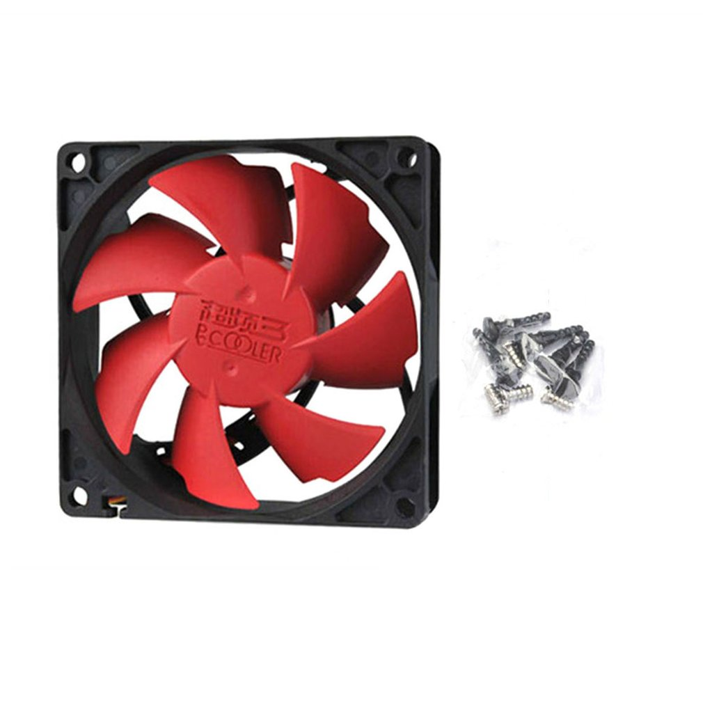 Pc Case Cooling <font><b>Fans</b></font> 4D Plug Computer Coolers High Quality Best Silent Quiet <font><b>140mm</b></font> 14cm DC <font><b>12V</b></font> Copper & Aluminum 2 Lines Piece image