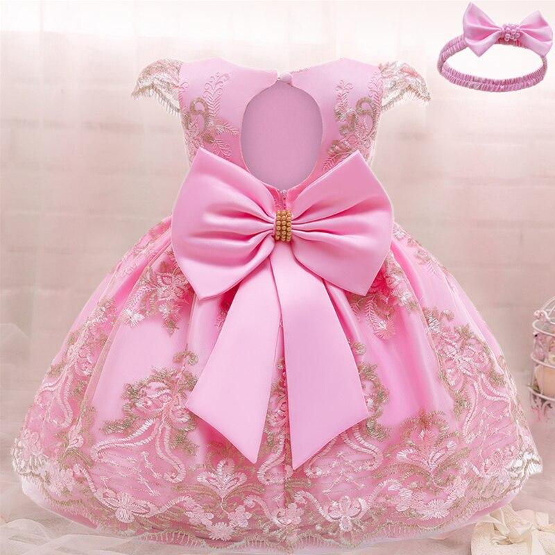 Dziewczynek sukienka świąteczna 3 6 9 12 18 24 miesięcy maluch noworodka koronkowa sukienka księżniczki 1 rok urodziny nowy rok kostium