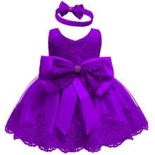 Letnie dziewczynek sukienka noworodka koronki księżniczka sukienka dla dziecka 2 1 rok sukienka urodzinowa kostium na Halloween sukienka dla niemowląt tanie tanio Patchwork Bez rękawów REGULAR Formalne Łuk Pasuje prawda na wymiar weź swój normalny rozmiar fashion cotton+polyester