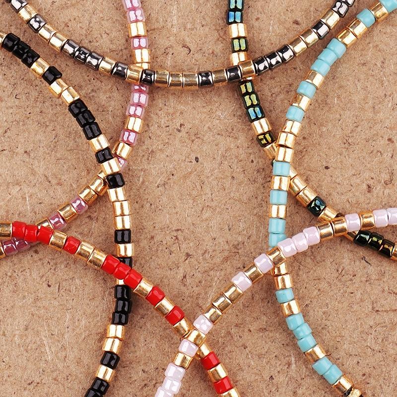 Natural MIYUKI Rice Beads Tibetan Stone Beads Stretch Bracelet For Men Women Yoga Chakra Crystal Bead Bracelets