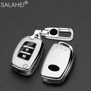 Image 1 - Weiche TPU Auto Schlüssel Abdeckung Fall Halter Keychain Für Hyundai Tucson Creta ix25 i10 i20 i30 Verna Mistra Elantra 2015 2018 zubehör