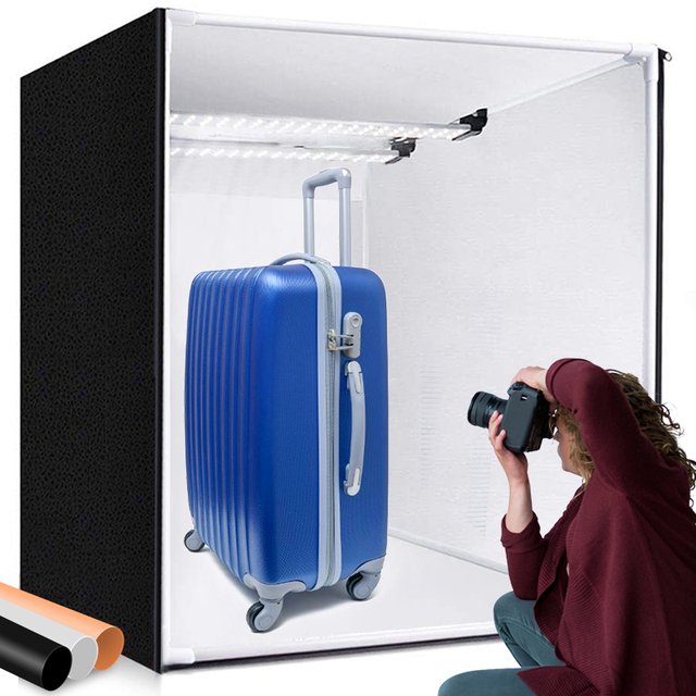 M80II Light Box 80cm Studio Box Softbox Foldable Photography Lightbox with Light Board for Photo Jewelry Toy Product Shoot