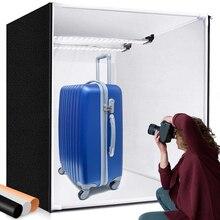 M80ii caixa de iluminação dobrável, caixa de iluminação de 80cm para fotografia, joias e brinquedos com placa de luz