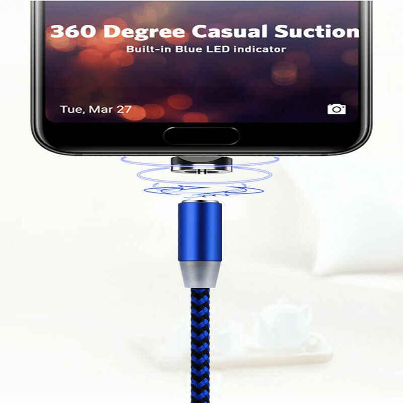 360 ° Tipe-C Micro USB IOS Charger Magnetic Pengisian Kabel untuk Samsung Galaxy S8 S7 S6 S5 iPhone 5 6 6 S 7 7 S 8 8P Plus X XR Banyak