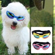 Dobrável pet óculos de sol gato cão proteção óculos de proteção ajustável cão óculos de sol filhote cachorro acessórios pet suprimentos
