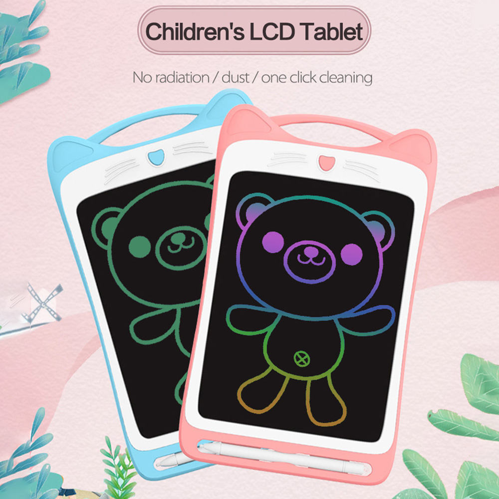 LCD Writing Tablet Single Color/Colorful Screen 8.5 Inch Colorful Toddler Doodle Board, Childrens Cartoon Drawing Tablet