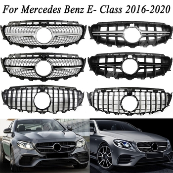 Car Front  Racing Grill Billet Bumper Grille Upper Cover For Mercedes-Benz E-Class W213 2016 2017 2018 2019 2020 Diamond GTR AMG