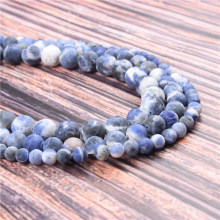 Hot?Sale?Natural?Stone?Matte Blue15.5?Pick?Size?6/8/10mm?fit?Diy?Charms?Beads?Jewelry?Making?Accessories