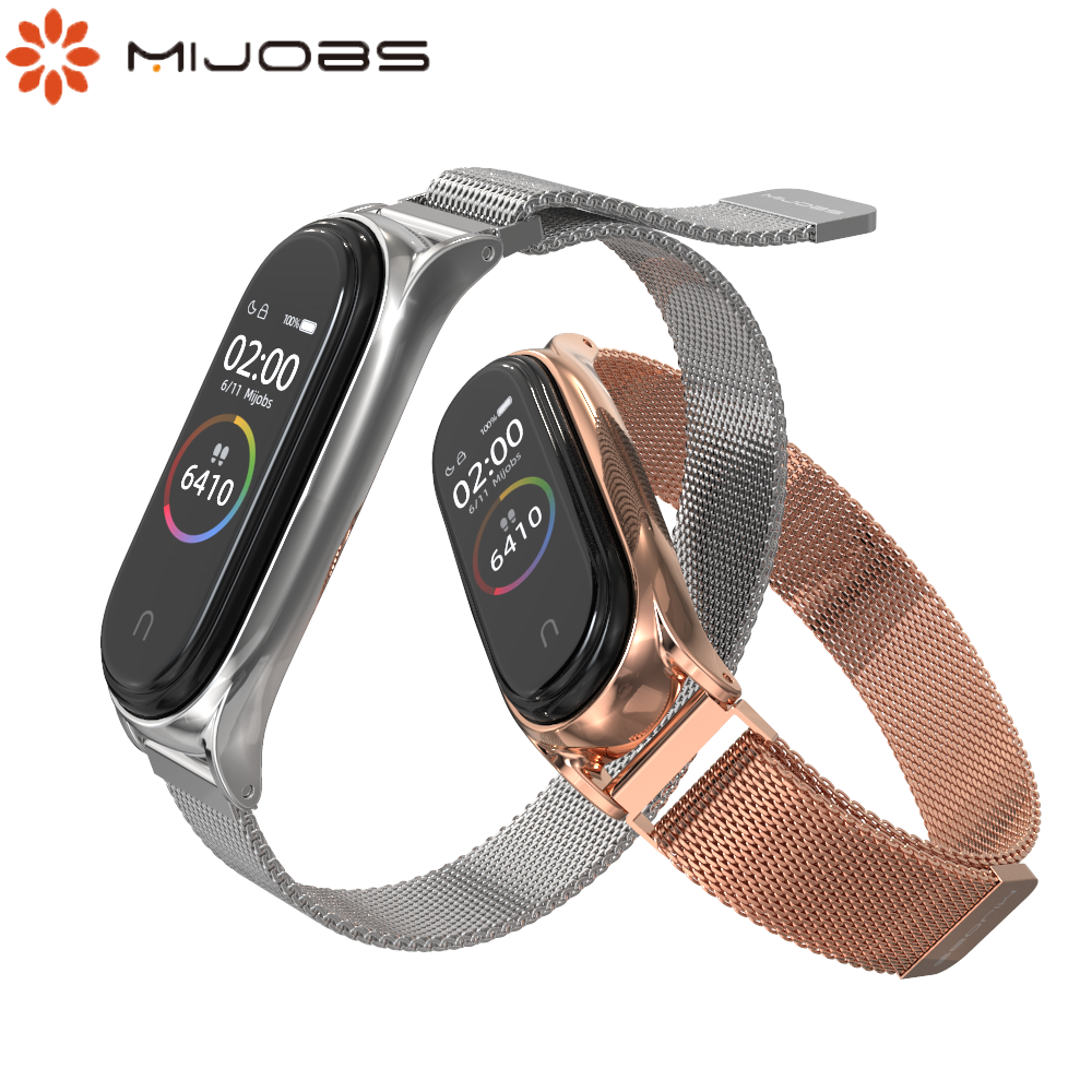 For Xiaomi Mi Band 4 Strap Metal Wristband  Miband Band 4 Bracelet Stainless Steel Magnet Strap Band 3 Replaceable Wrist Strap