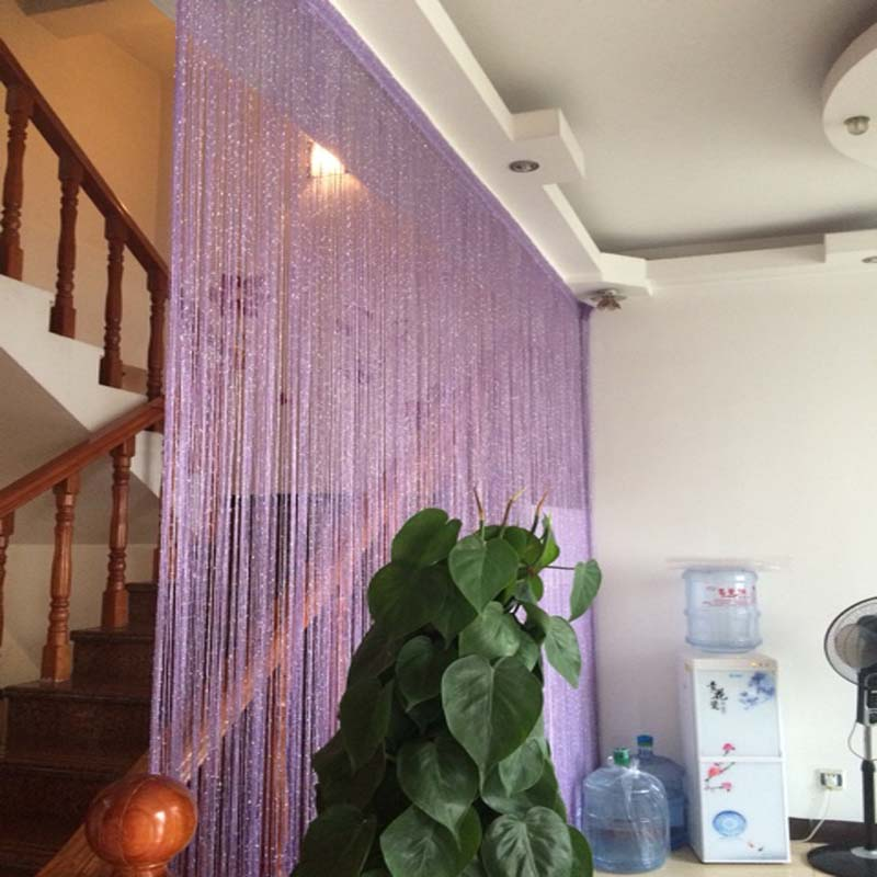 Fringed partition curtain with dense silver thread hanging curtain to partition the porch without winding Korean wedding decorat