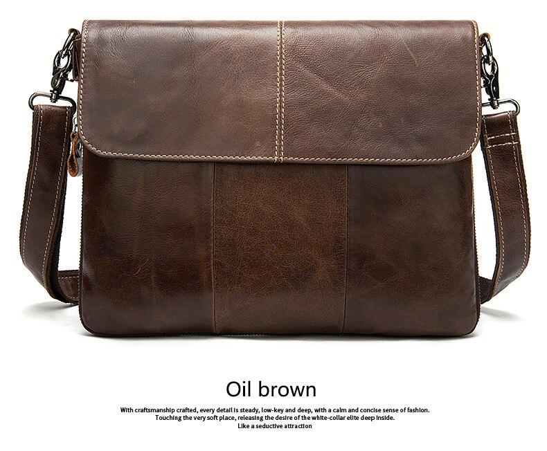 Men's Briefcases Computer Bag Messenger Bag Men Shoulder Bags Genuine Leather Document Bags For Men Laptop Handbags