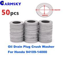 Armsky Упаковка из 50 шт алюминиевых сливных планок масла раздавить шайба прокладки(QTY50) для Honda 94109-14000