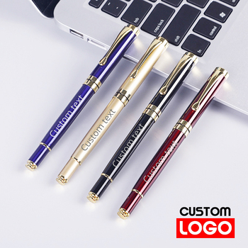 Metal Signature Pen Orb Pen Customized Advertising Pen Office Supplies Lettering Engraved Name Custom LOGO Stationery Wholesale sales champion 60pcs lot 10 colors metal pen customized logo printing with free logo name or text for company event supplies
