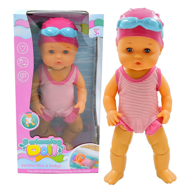 Funny <font><b>Water</b></font> Bath <font><b>Toy</b></font> Waterproof Electric Floating Simulation Swimming Doll Girl <font><b>Toy</b></font> <font><b>For</b></font> <font><b>Children</b></font> Birthday Christmas Gifts image