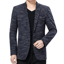 Suit Jackets Blazer Costume Long-Sleeve Comfortable-Printed Casual Two-Buttons Masculino