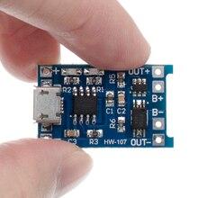 100 Chiếc TP4056 + Bảo Vệ Kép Chức Năng 5V 1A Micro USB 18650 Pin Lithium Sạc Ban Sạc Mô Đun