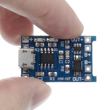 100Pcs TP4056 + הגנה כפולה פונקציות 5V 1A מיקרו USB 18650 סוללת ליתיום טעינת דירקטוריון מטען מודול