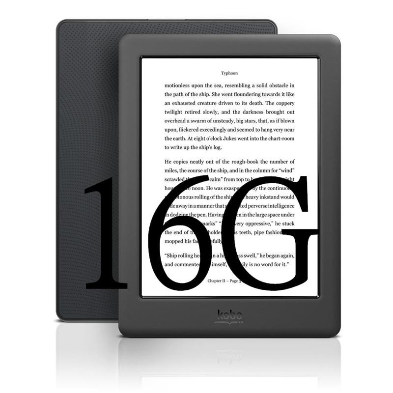 300ppi kobo glohd livro eletrônico e-ink 6 polegadas ebook ereader n437 tela hd 1448x1072 e-books leitor 4/16gb wifi