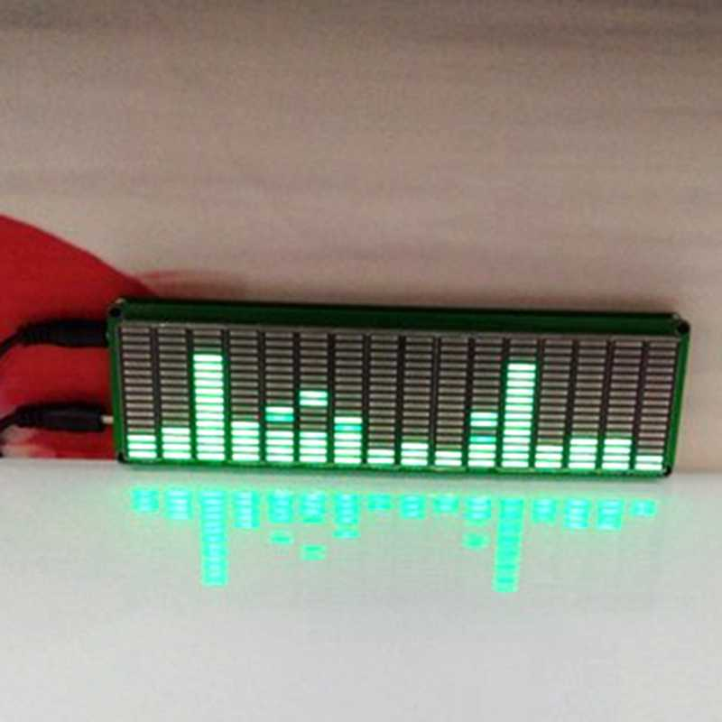 16 Level LED Music Audio Spectrum Indicator Amplifier Board Green Color Speed Adjustable with AGC Mode DIY KITS