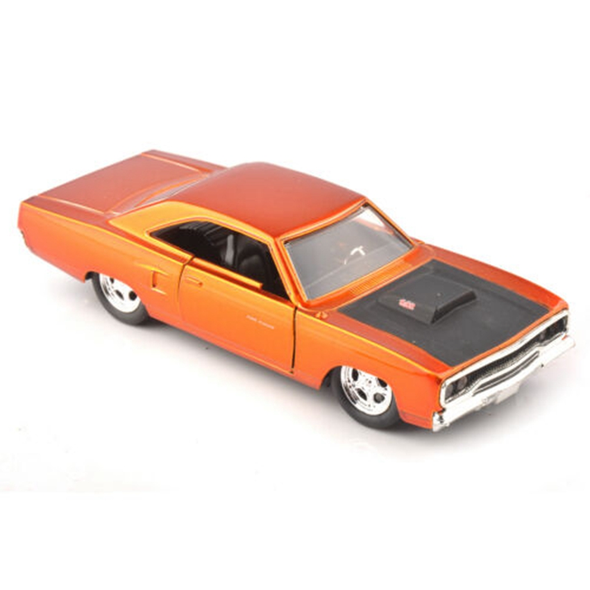 JADA DIECAST 1/32 FAST & FURIOUS Orange VEHICLES CAR MODEL 1970 PLYMOUTH RUNNER Collection Gift