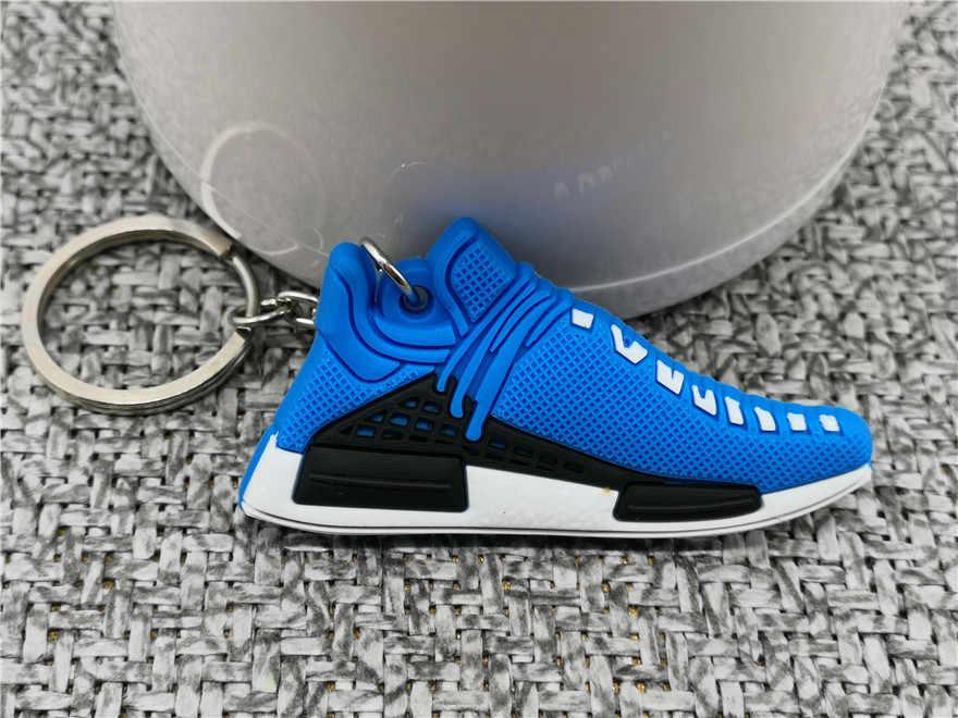 Sapatos bonitos chaveiro mini pw raça humana sapato chaveiro mulher dos homens crianças presente chaveiro tênis de basquete porte clef