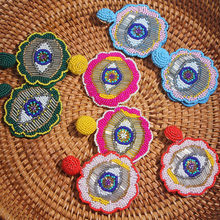 2019 Handmade Bride Beads Turkish Evil Eye Drop Errings for Women Bohemian Tassel Big Trendy Statement Wedding Fashion Jewelry