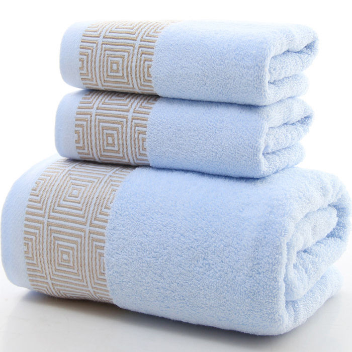 Cotton Towel Bath Towel Set Bath Towel 140x70cm Towel 35x75cm Soft Absorbent Three-Piece Set
