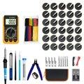 379 шт паяльник набор с цифровым Цифровой мультиметр пайка сжигание пирография ручка инструменты лучший для пайки Электрический