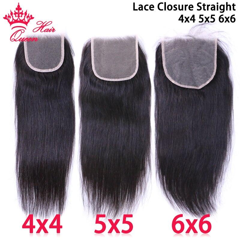 Queen Hair Официальный магазин HD Прозрачная Кружевная застежка 4x4 5x5 6x6 бразильские Натуральные Прямые Волосы Top Swiss Lace 100% человеческие волосы