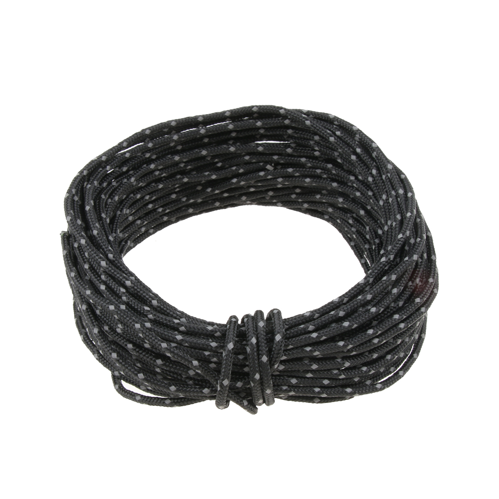 2.5mm 50ft Camping Tent Reflective Guyline Rope Awning Tarp Paracord Outdoor Camping Accessories