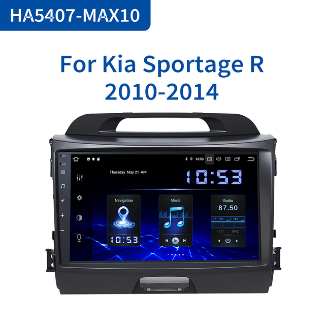 "Dasaita 9 ""IPSรถAndroid 10.0 เครื่องเล่นวิทยุสำหรับKia Sportage R 2013 2014 2015 2016 GPS Navigatorรถเสียง"