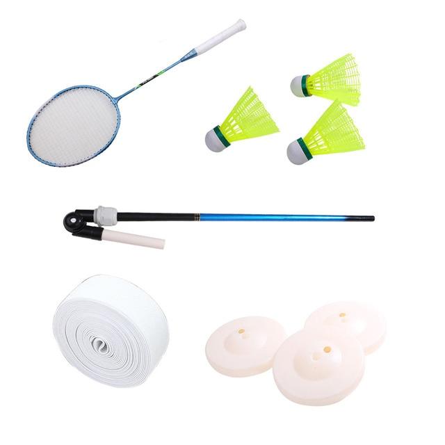 Badminton raquette volant entraînement eau Injection Base pôle corde Sport de plein air exercice dispositif auto-étude rebond équipement