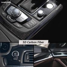 3D 5D Carbon Fiber Vinyl Film Car Stickers Waterproof Sticker Car Wrap Roll auto Vehicle Detailing Accessories