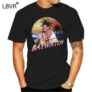 1990S Baywatch Tv Show Mitch airbrush fotoğraf yetişkin T Shirt David Hasselhoff komik üstleri Tee gömlek
