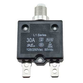 Caja moldeada con interruptor de aire de 5A/10A/15A/20A/30AMP con botón pulsador, interruptor de circuito de protección eléctrica de montaje en Panel térmico